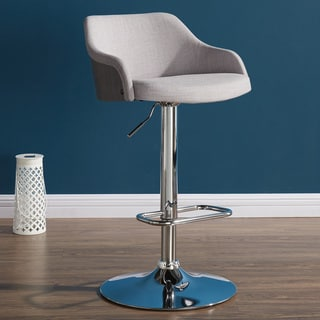 Castilo Bent Wood/Fabric Adjustable-height Stool