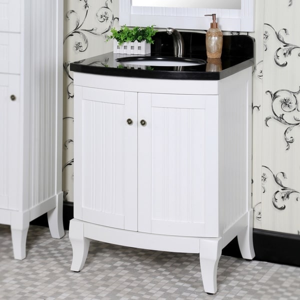 27 Inch Bathroom Vanities: Shop Infurniture Country-style White Wood And Black