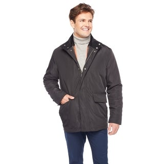 Cole Haan Men's 34-inch Car Coat with Quilted Fill Lining