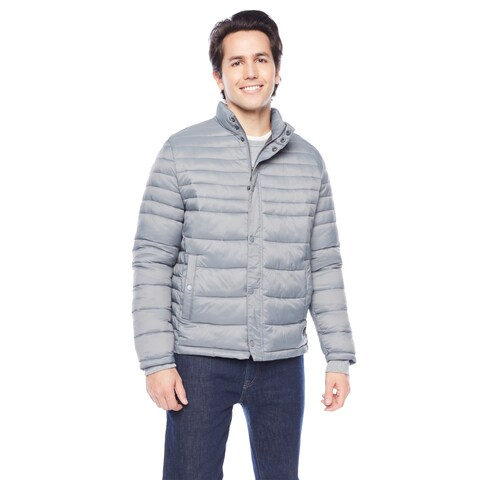 Kenneth Cole Men's Snap Front with Side Slit Pockets Puffer Jacket