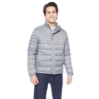 Kenneth Cole Men's Snap Front with Side Slit Pockets Puffer Jacket