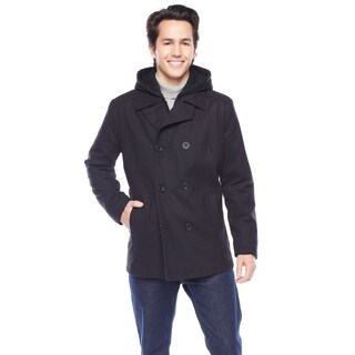 Kenneth Cole Men's High Collar Peacoat