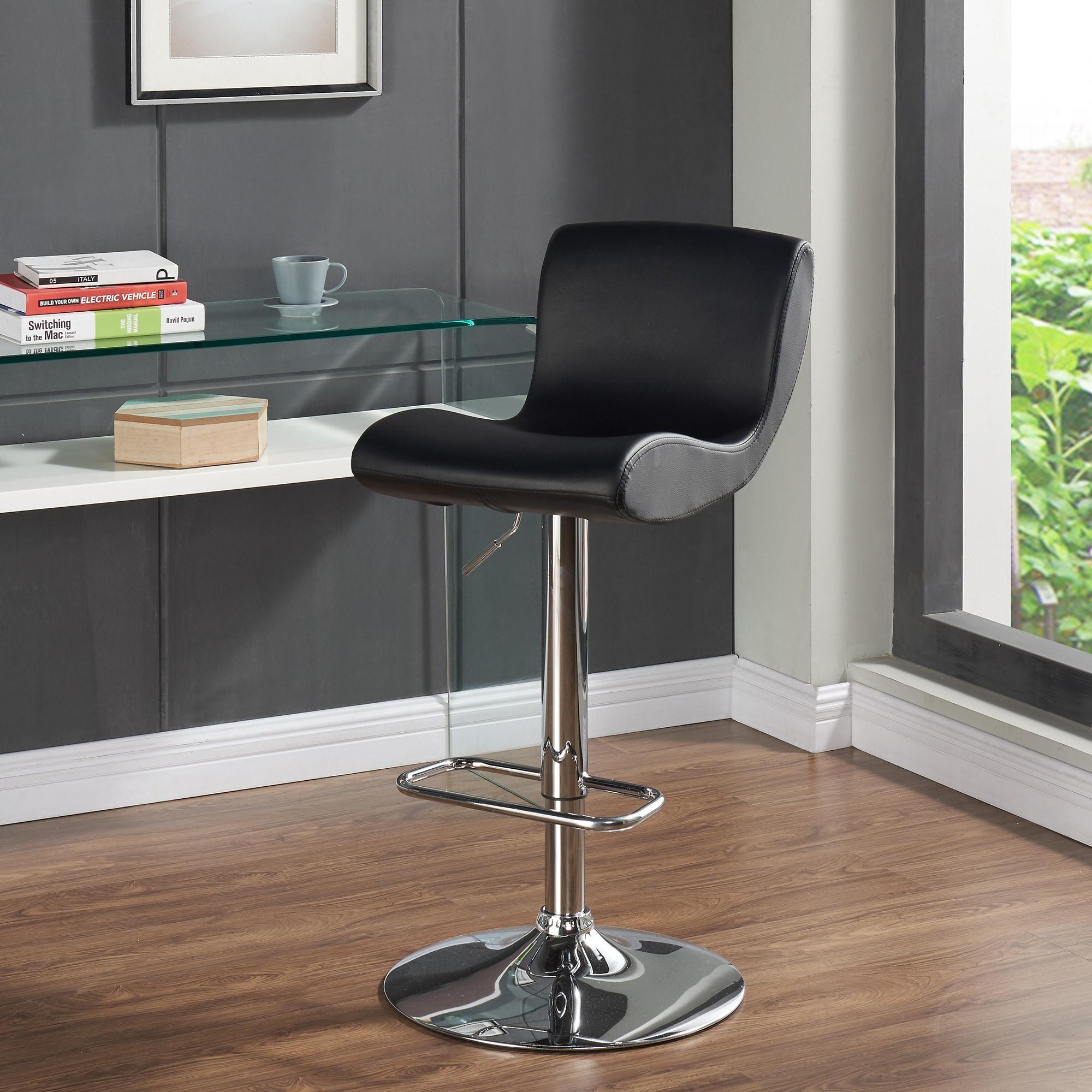 Astounding Silvio Adjustable Height Faux Leather Stool Set Of 2 Spiritservingveterans Wood Chair Design Ideas Spiritservingveteransorg