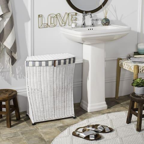 "Safavieh Trotter Rattan Laundry Basket - 19.2"" x 10.2"" x 23.6"""