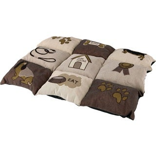 Patchwork Brown Quilted Pet Bed