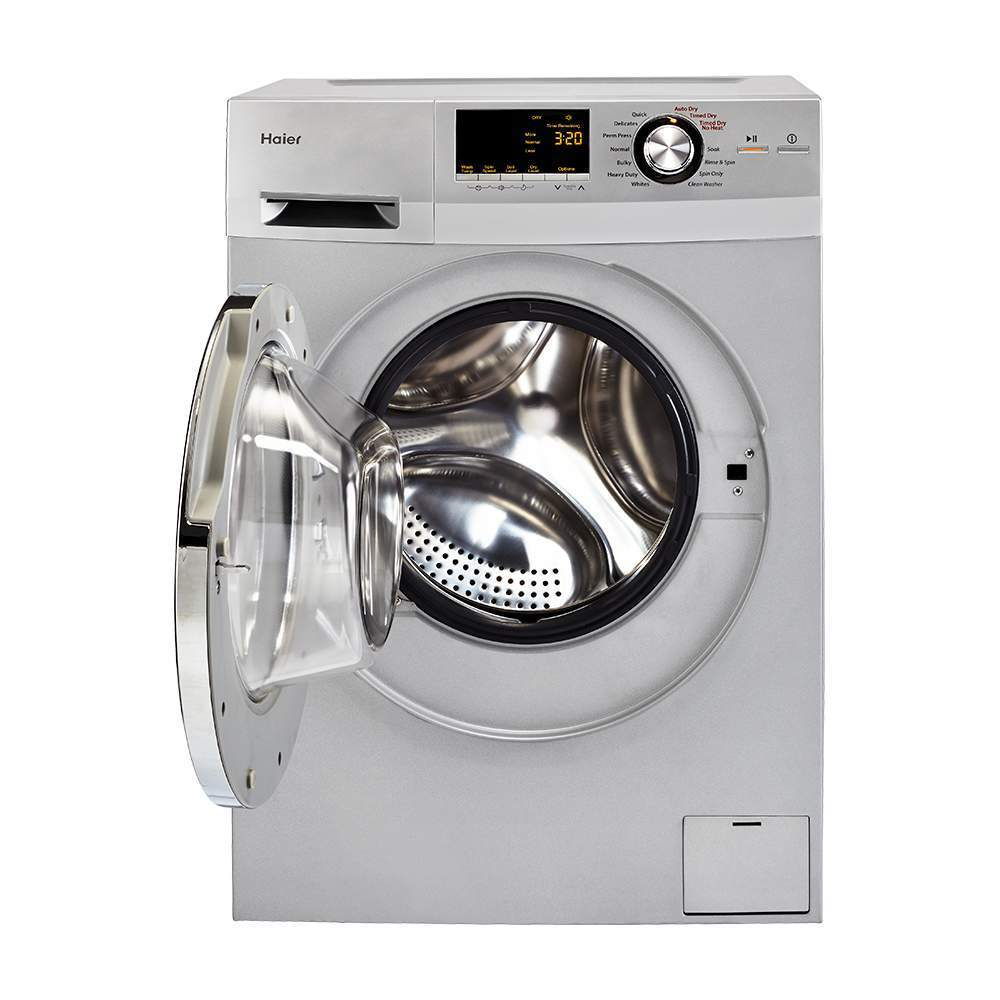 """Haier HLC1700AXS 24"""" Front Load Washer/Dryer Combo (Optio..."""