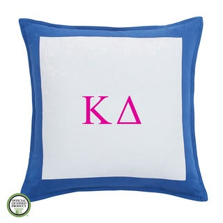Southern Tide Chino Kappa Delta Monogrammed Feather and Down Filled Decorative Pillow 16-inch