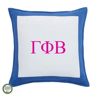 Southern Tide Chino Gamma Phi Beta Monogrammed Feather and Down Filled Decorative Pillow 16-inch