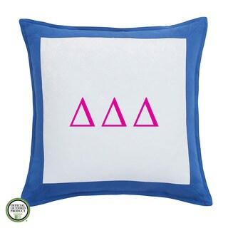 Southern Tide Chino Delta Delta Delta Monogrammed Feather and Down Filled Decorative Pillow 16-inch