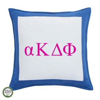 Southern Tide Chino Alpha Kappa Delta Pi Monogrammed Feather and Down Filled Decorative Pillow 16-inch