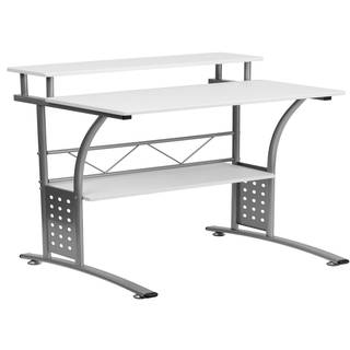 Agrol White Wood and Metal Computer Desk