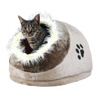 Shop Furhaven Nap Fur Trimmed Dome Cave Cat Bed Free