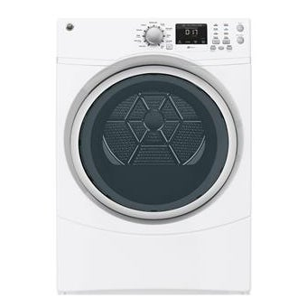 "GE GFDN160EJWW 27"" Front Load Electric Dryer (Option), Wh..."