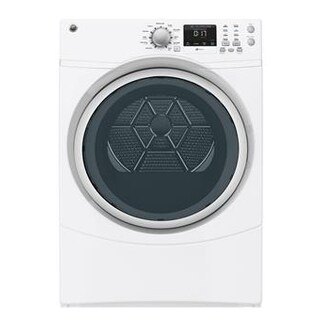 """GE GFDN160EJWW 27"""" Front Load Electric Dryer"""