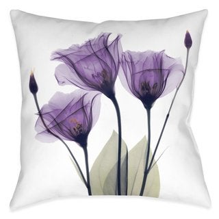 Laural Home Lavender Floral X-Ray Outdoor Decoratie Pillow