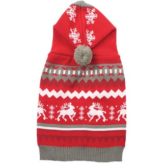Holiday Dog Sweater-Red