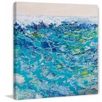 'Ocean 3' Painting Print on Wrapped Canvas - Blue