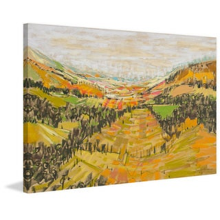 'Patchwork Hills VI' Painting Print on Wrapped Canvas
