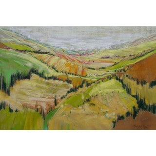'Patchwork Hills IX' Painting Print on Wrapped Canvas