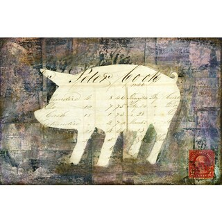 'Pig' Painting Print on Wrapped Canvas
