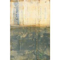 'Secured I' Painting Print on Wrapped Canvas - Yellow