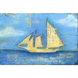 'Sailboat III' Painting Print on Wrapped Canvas