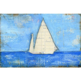 'Sailboat I' Painting Print on Wrapped Canvas
