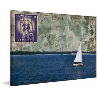 'Sailboat' Painting Print on Wrapped Canvas