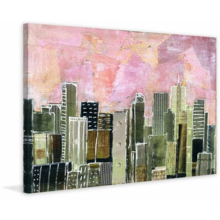 'Denver Skyline' Painting Print on Wrapped Canvas