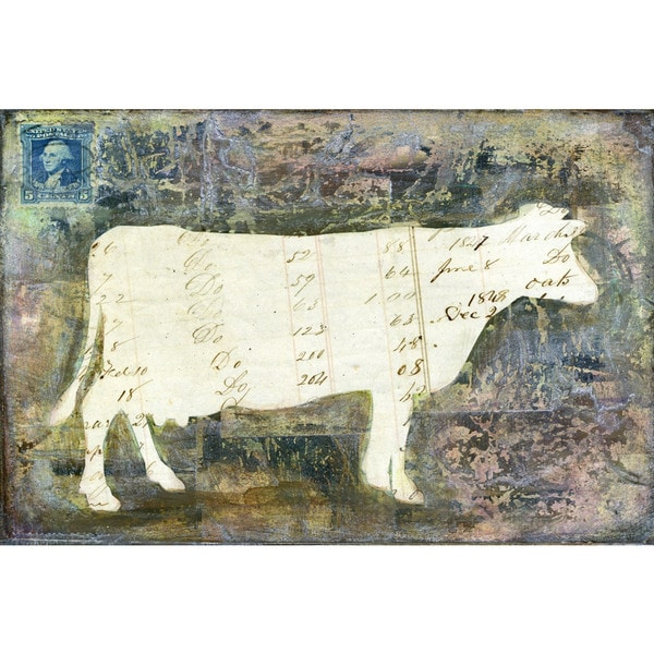 'Cow' Painting Print on Wrapped Canvas