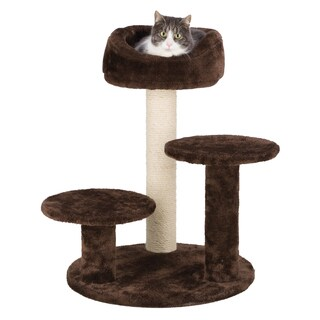 Orla Plush Brown Cat Tree