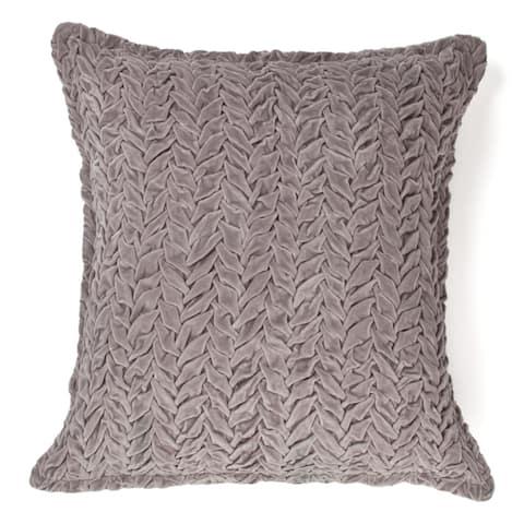 Cottage Home Allie Grey or Khaki Cotton Decorative Throw Pillow