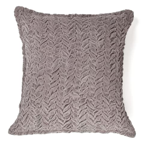 Cottage Home Allie Grey Cotton Decorative Throw Pillow