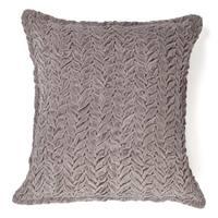 Allie Silver Cotton Velvet Decorative Throw Pillow 20-inch