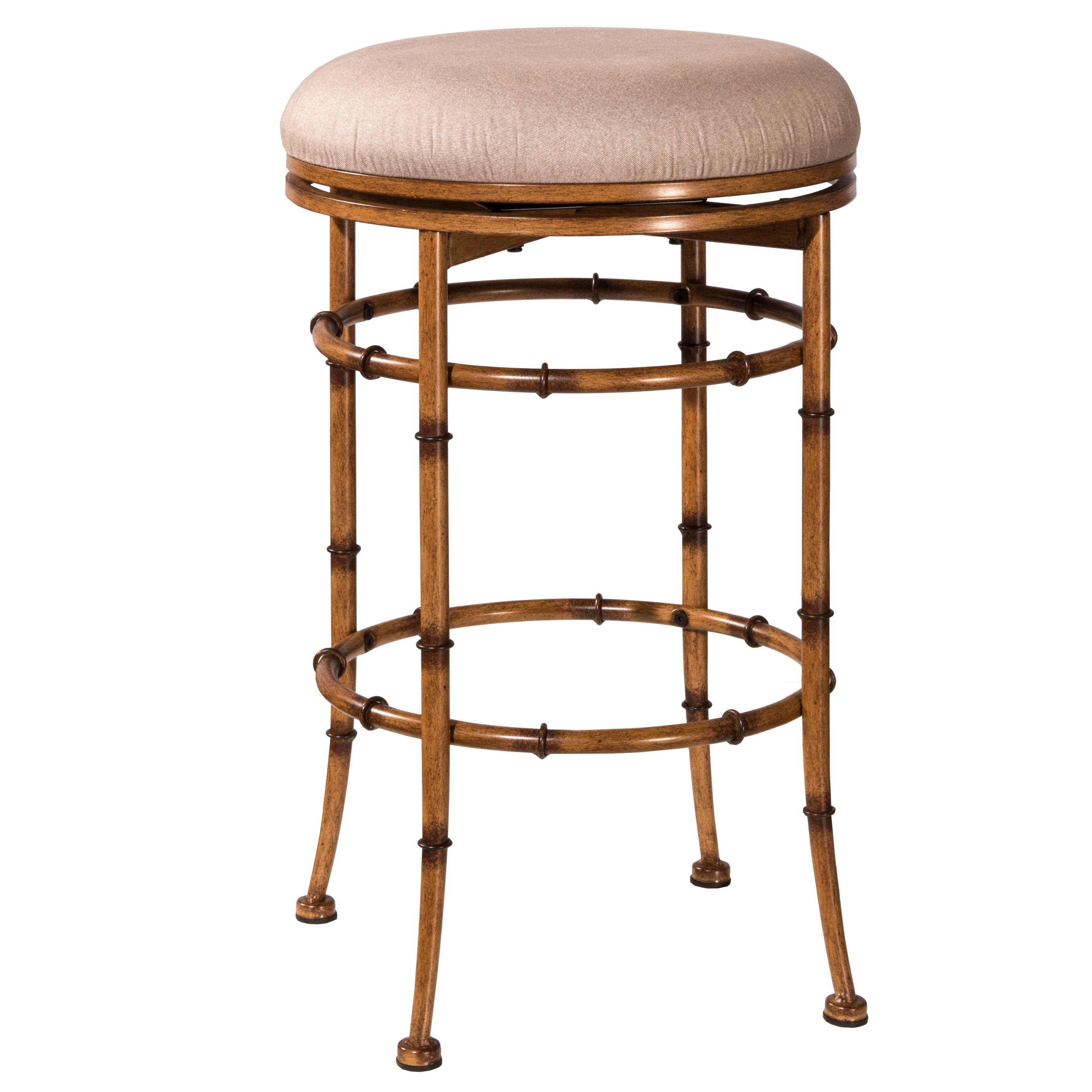 Hillsdale Furniture Reed Burnished Brown Backless Swivel ...