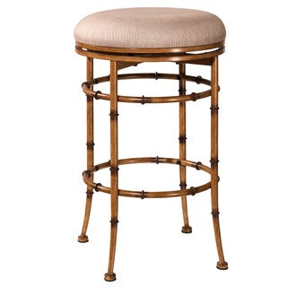 Hillsdale Furniture Reed Burnished Brown Backless Swivel Counter Stool
