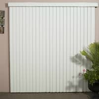 Solid White Smooth Vinyl Veritical Blind, 98 inches Long x 36 to 98 inches Wide