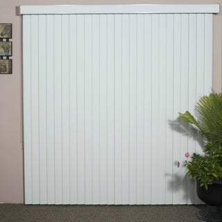 Havana Pure White Textured Vinyl Veritical Blind, 98 inches Long x 36 to 98 inches Wide