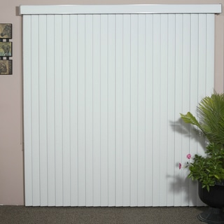 Havana Pure White Textured Vinyl Veritical Blind, 84 inches Long x 36 to 98 inches Wide