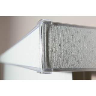 Havana Pure White Textured Vinyl Veritical Blind, 72 inches Long x 36 to 98 inches Wide