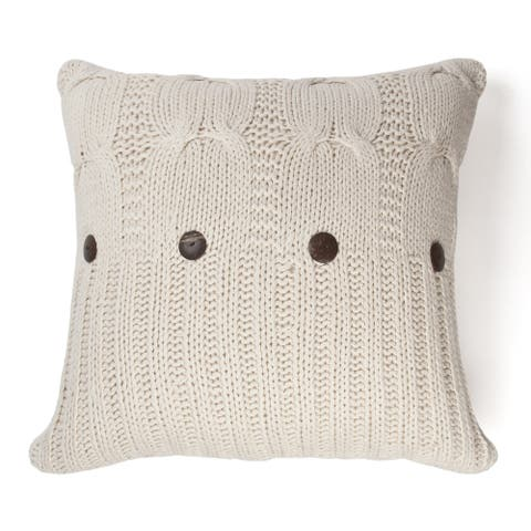 Michaela Natural Knitted Decorative Pillow