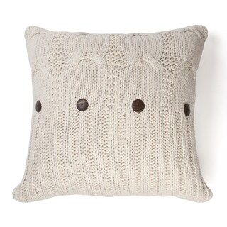 Link to Michaela Natural Knitted Decorative Pillow Similar Items in Decorative Accessories
