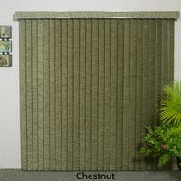 """Chestnut Fabric Vertical Blind, 98"""" L x 36"""" to 98"""" W, CORDLESS"""