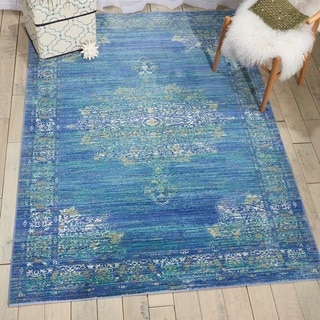 Nourison Cambria Teal Traditional Area Rug (7'10 X10'6  )