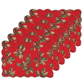 Holly Bouquet Placemat (Pack of 6)