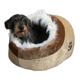 Minou Brown Cuddly Pet Cave Bed