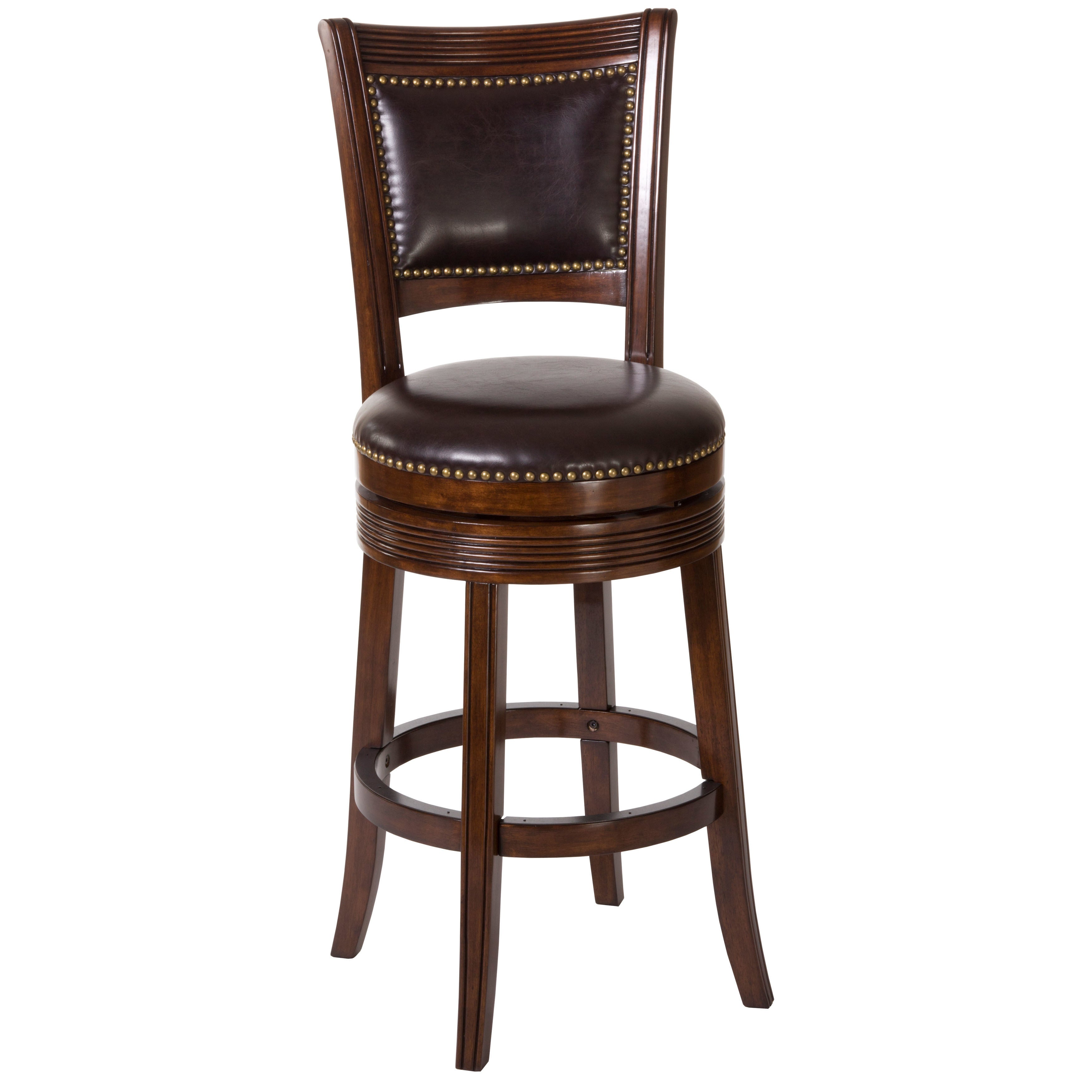 Super Hillsdale Furniture Lockefield Brown Cherry Wood Swivel Counter Stool Inzonedesignstudio Interior Chair Design Inzonedesignstudiocom