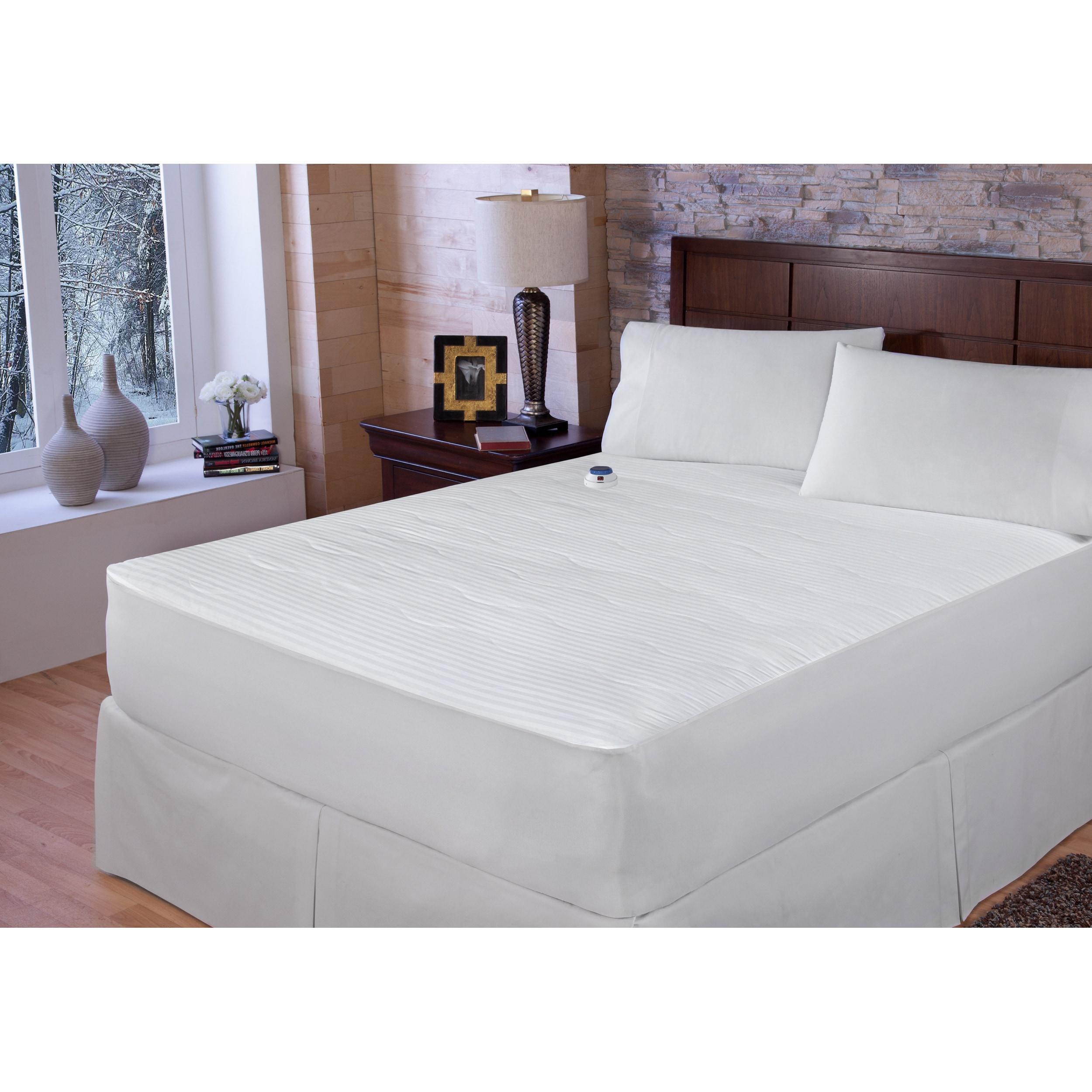 Rest Remedy Waterproof Electric Warming Mattress Pad with...