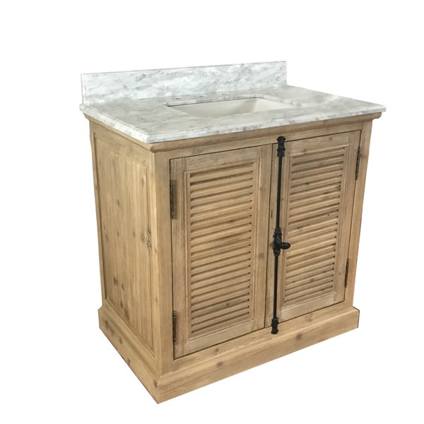 Shop Infurniture Rustic Style Wood 36 Inch Single Sink