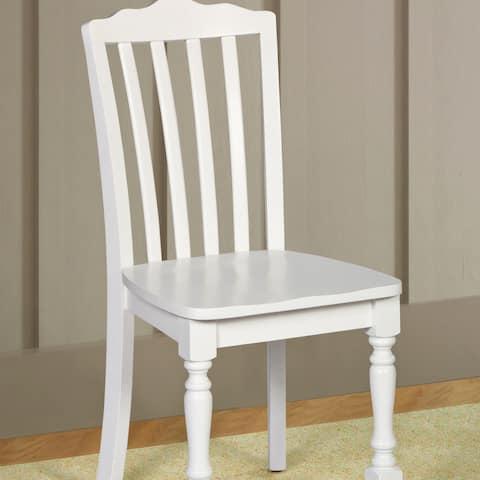 "Hillsdale Furniture Lauren Chair in White Finish - 36.63""H x 17""W x 17""D"